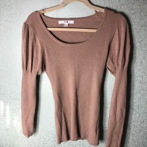 Stretchy puff long sleeve shirt